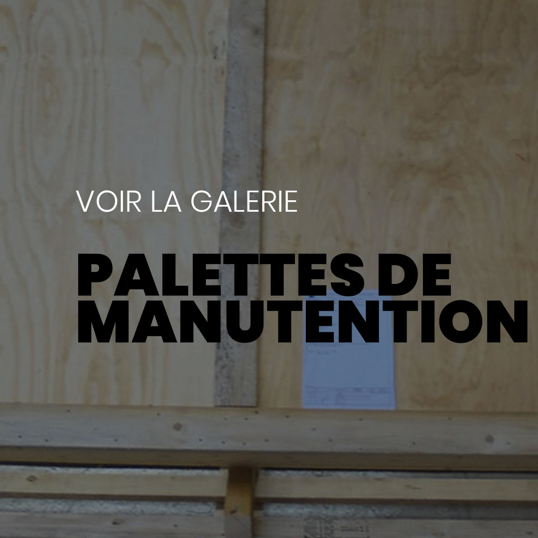 palettes de manutention